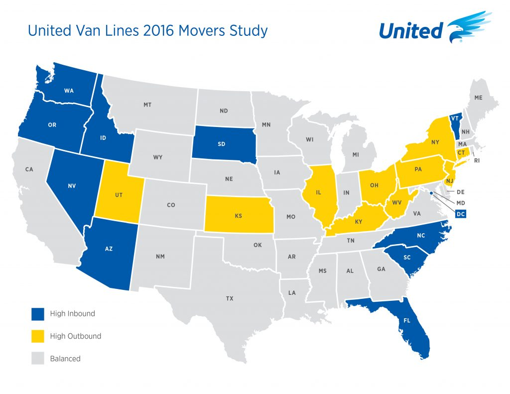 US map of hot up and coming real estate markets